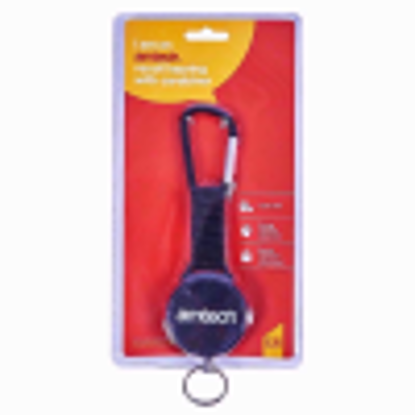 Picture of Am-Tech S6365 Recoil Keyring with Carabiner - Red