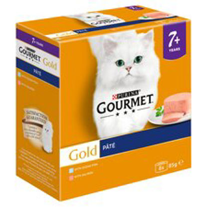 Picture of Purina Gourmet Gold Senior Tinned Pate Salmon 8X85g