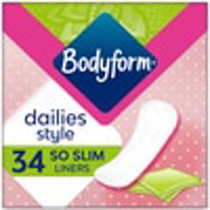 Picture of Bodyform So Slim Individually Wrapped And Folded Panty Liners 34 Pack