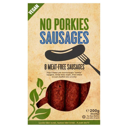 Picture of No Porkies Meat-Free Sausages 8 x 25g (200g)