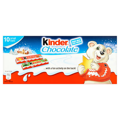 Picture of Kinder Chocolate Milk Chocolate Bars 10 X 12.5G