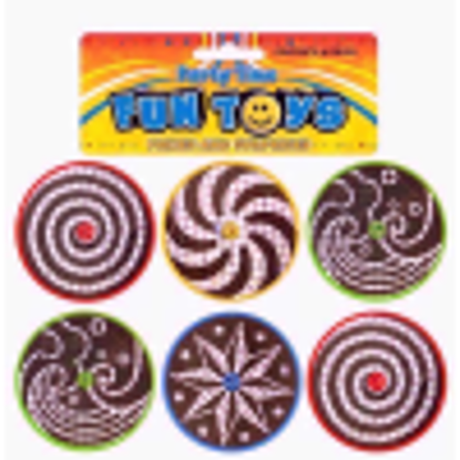Picture of PARTY TIME FUN TOYS SPINNING TOP SET 6