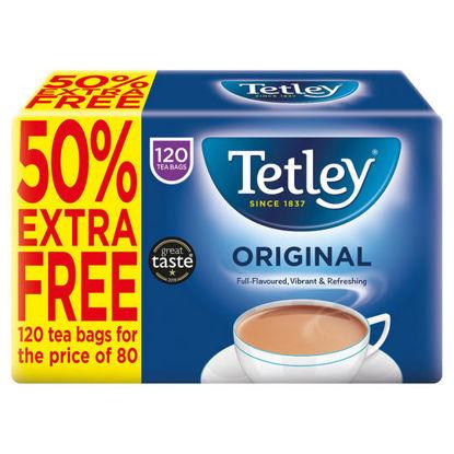 Picture of Tetley Original Tea Bags x120 (50% Extra Free)