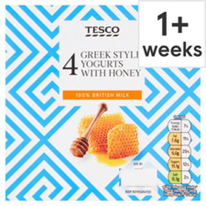 Picture of Tesco Greek Style Honey Yogurt 4 X 100G