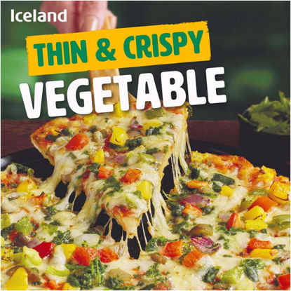 Picture of Iceland Thin & Crispy Vegetable Pizza 329g