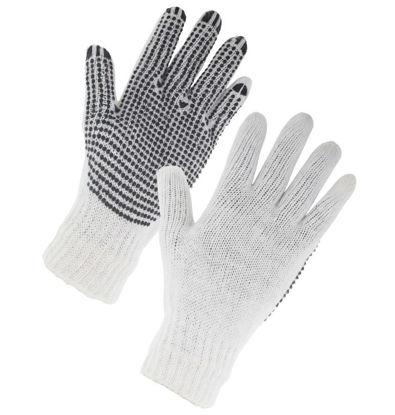Picture of Easi Safe Work Wear PVC Polka Dot General Purpose Work Gloves - Black - Medium