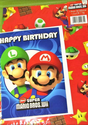 Picture of Super Mario Bros Gift Wrapping Paper, Card & Tag - 50cm X 70cm