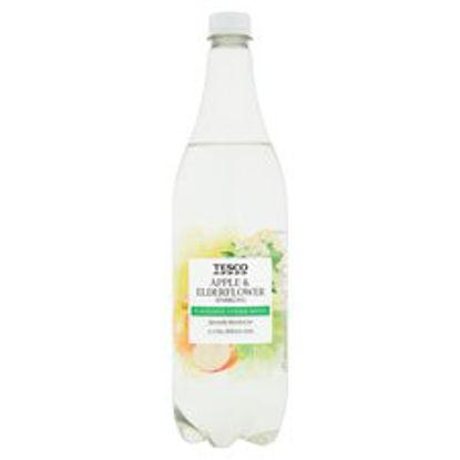Picture of Tesco Apple & Elderflower Sparkling Water 1 Litre
