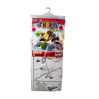 Picture of Colour Your Own Horses Play Mat - 84Cm X 70Cm