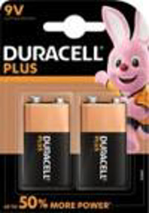 Picture of Duracell Plus Power Type 9 V Alkaline Batteries, Pack of 2