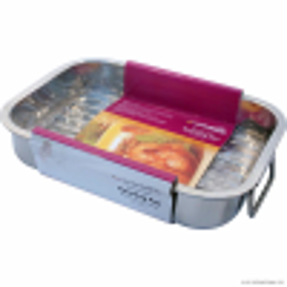 Picture of Prima Stainless Steel Oblong Roaster Roasting Baking Sheet Tray Tin & Rack 27 x 20