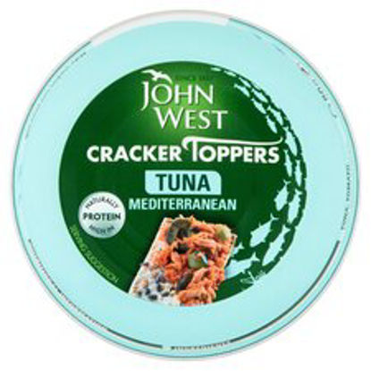 Picture of John West Cracker Toppers Tuna Mediterranean 80G