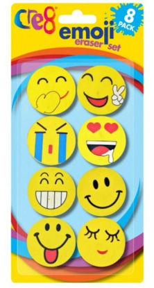 Picture of Cre8 Emoji Eraser Set - Pack of 8