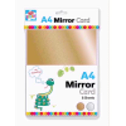 Picture of Anker Kids Create Arts and Crafts Mirror Card, Plastic, Gold/Silver, A4, Sheet of 12