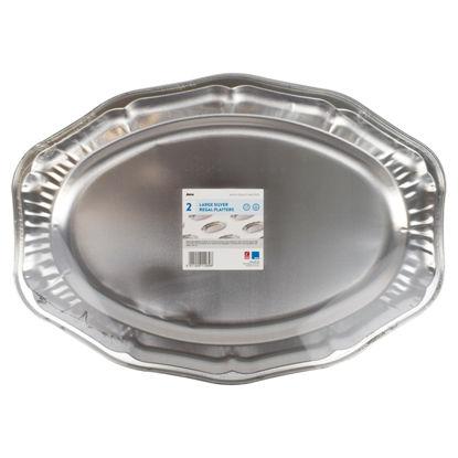 Picture of Jena Regal Foil Platters Large 49Cmx35cm 2Pack