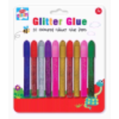 Picture of Anker Kids Create Arts and Crafts Coloured Glitter Glue Pens, Plastic, Assorted Colour, 10-Piece