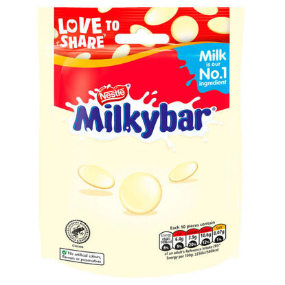 Picture of Milkybar White Chocolate Giant Buttons Sharing Pouch 80g
