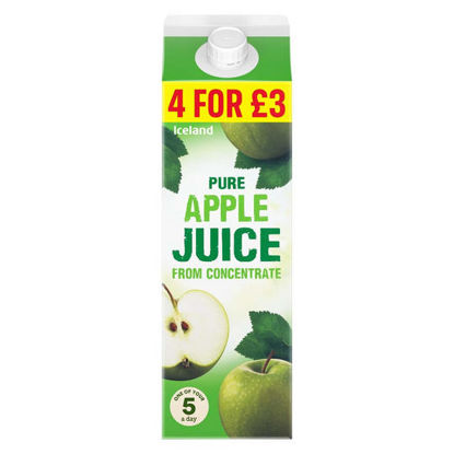 Picture of Iceland Pure Apple Juice from Concentrate 1l