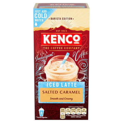 Picture of Kenco Barista Edition Iced Latte Salted Caramel 8X21.3G