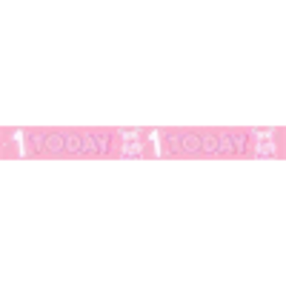 Picture of Party Celebration Banner - Age 1 Girls 1st Birthday, 1 Today (Eurowrap Ltd)