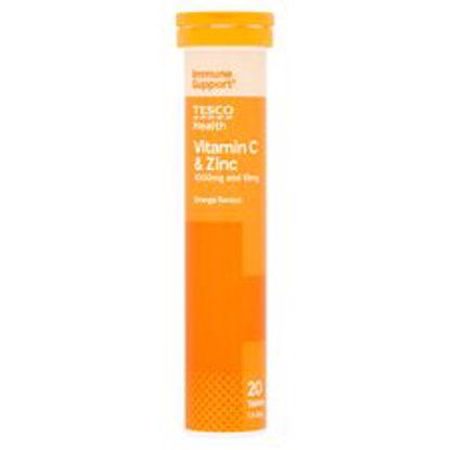 Picture of Tesco Effervescent Vitamin C Plus Zinc X 20