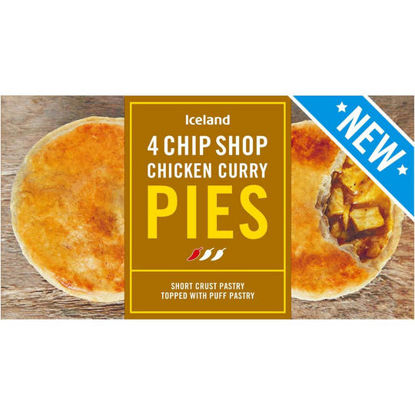 Picture of Iceland 4 Chip Shop Chicken Curry Pies 568g
