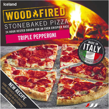 Picture of Iceland Triple Pepperoni Stonebaked Pizza 357g