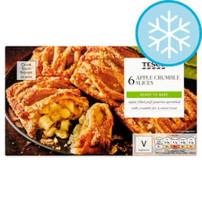 Picture of Tesco 6 Apple Crumble Slices 360G