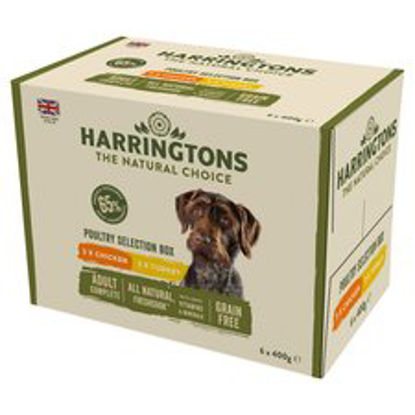 Picture of Harringtons Poultry Selection Box Dog Food 6X400g