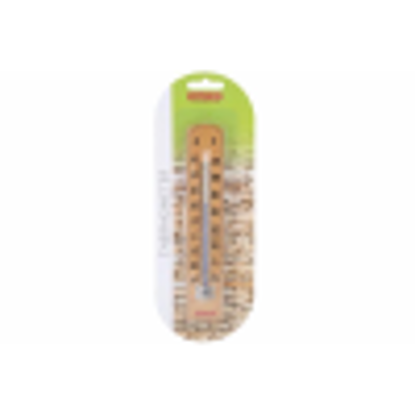 Picture of Apollo Wooden Wall Thermometer with C and F readings