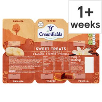 Picture of Creamfields Low Fat Sweet Treats Yogurt 6X125g