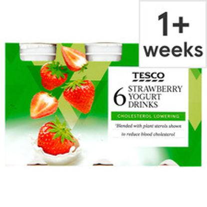 Picture of Tesco Chol Red Strawberry Yogurt Drink 6X100g
