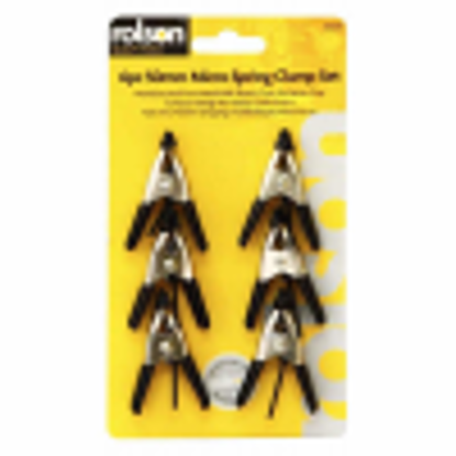 Picture of ROLSON  SPRING CLIP HEAVY DUTY SILVER 6PCE