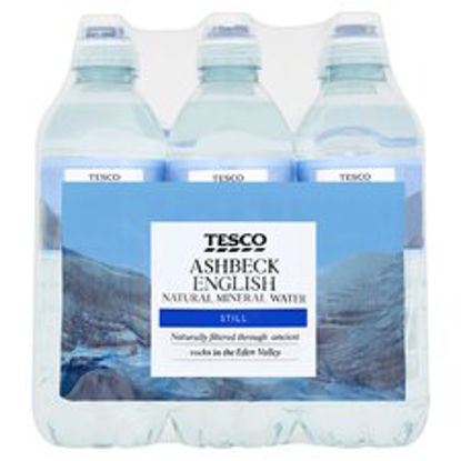 Picture of Tesco Ashbeck Natural Mineral Water Sport 6X500ml