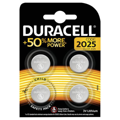 Picture of Duracell Specialty 2025 Lithium Coin Battery (Pack of 4)