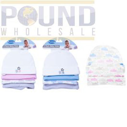 Picture of PREMIA BABY HATS 4PC 2 ASSORTED VAT FREE