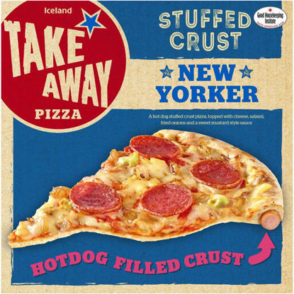 Picture of Iceland Hot Dog Stuffed Crust New Yorker Pizza 551g