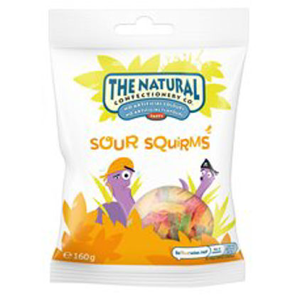 Picture of The Natural Confectionery Company Sour Gum Squirms 160G