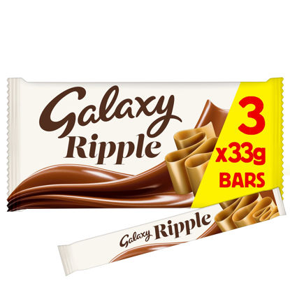 Picture of Galaxy Ripple Chocolate Bars Multipack 3 x 33g
