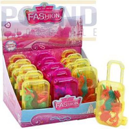 """Picture of 3.5"""" PONY WITH ACCESSORIES IN SUITCASE ASSORTED 12PC CDU"""