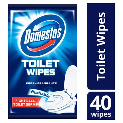 Picture of Domestos Domestos Toilet Wipes 40s, 0.17799999999999999 kilog