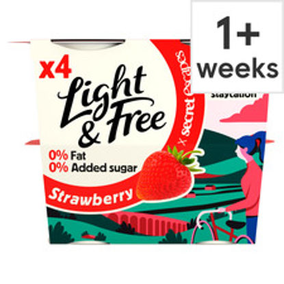 Picture of Light & Free Greek Style Strawberry Yogurt 4X115g