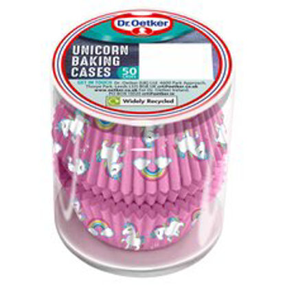 Picture of Dr. Oetker Unicorn Baking Cases 50 Pack