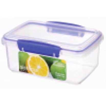 Picture of Sistema KLIP IT Food Storage Container, 1 L -  Clear with Blue Clips