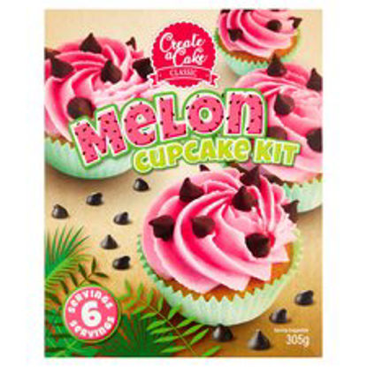 Picture of Create A Cake Melon Cupcake Kit 305G