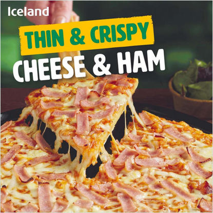 Picture of Iceland Thin & Crispy Cheese & Ham Pizza 327g