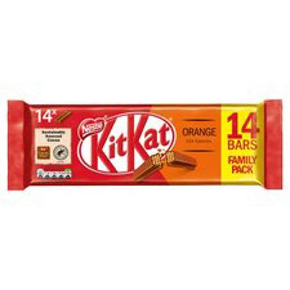 Picture of Kit Kat 2 Finger Orange Chocolate 14 Bar Pack 289.8G