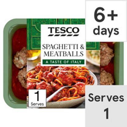 Picture of Tesco Spaghetti & Meatballs 450G