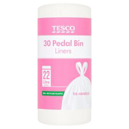 Picture of Tesco 30 Pedal Bin Liners 22L