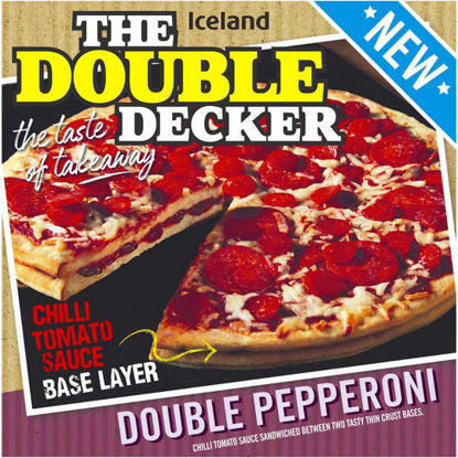 Picture of Iceland The Double Decker Double Pepperoni 699g